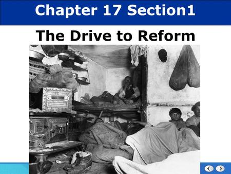 Chapter 25 Section 1 The Cold War Begins Section 1 The Drive for Reform Chapter 17 Section1 The Drive to Reform.