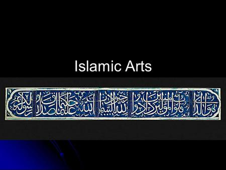 Islamic Arts Medieval Islamic Religious Architecture