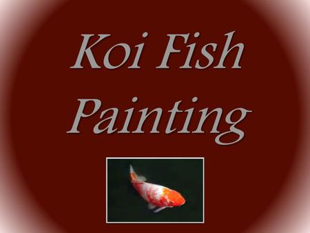 Koi Fish Painting.