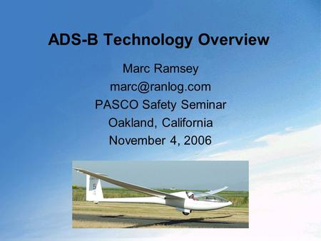 ADS-B Technology Overview