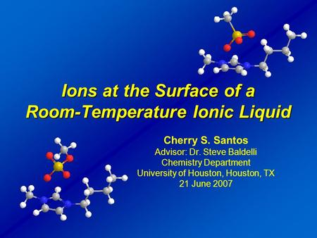 Ions at the Surface of a Room-Temperature Ionic Liquid