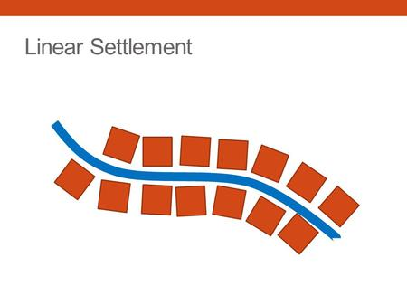Linear Settlement. Port Settlement. Capital Cities.
