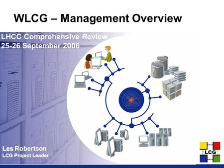 Les Les Robertson LCG Project Leader WLCG – Management Overview LHCC Comprehensive Review 25-26 September 2006.