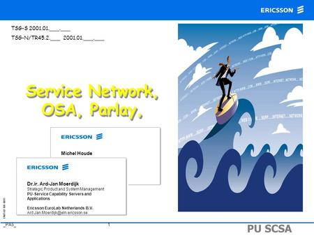Service Network, OSA, Parlay,