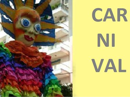 CARNIV AL. WHAT IS CARNIVAL? Carnival is a festive period governed by the lunar year of the Christian Middle Ages. The period was marked by a carnival.