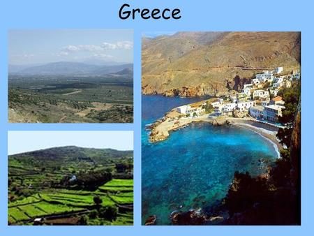 Greece. 1. Describe the geographic setting of Greece. (p.169) Peninsula.