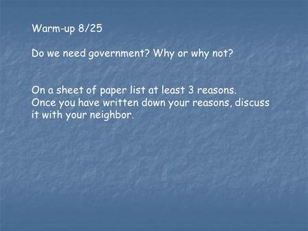 essay on why we need the government