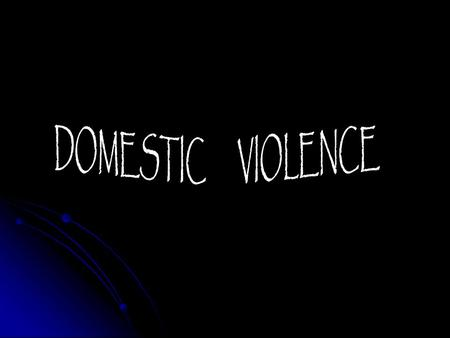The first attested use of the expression domestic violence in a modern context, meaning spouse abuse, violence in the home was in 1977.