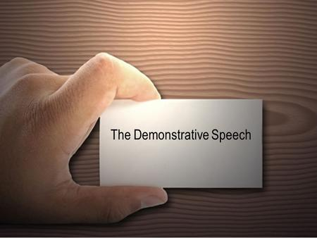 how to do a informative speech