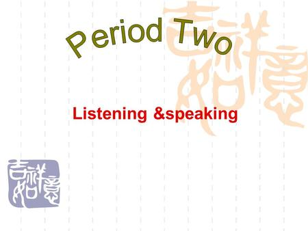 Listening &speaking. In this lesson you will  Listen for stressed words when listening to a story;  Tell a story and deal with mistakes.