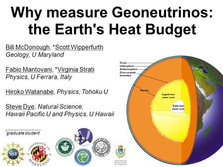 Why measure Geoneutrinos: the Earth's Heat Budget