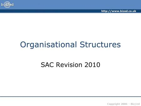 Organisational Structures