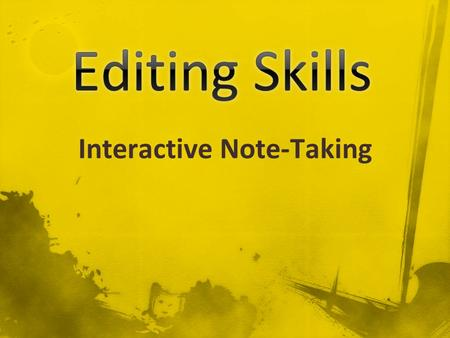 Interactive Note-Taking. This presentation covers capitalization. This presentation covers capitalization.