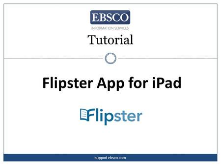 Tutorial Flipster App for iPad support.ebsco.com.