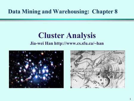 Data Mining and Warehousing: Chapter 8
