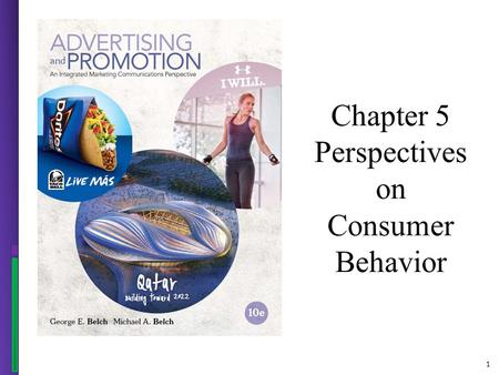 1 Chapter 5 Perspectives on Consumer Behavior. 2 Figure 5.1 - A Model of the Communication Process.