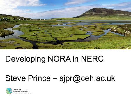Developing NORA in NERC Steve Prince –
