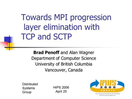 Towards MPI progression layer elimination with TCP and SCTP