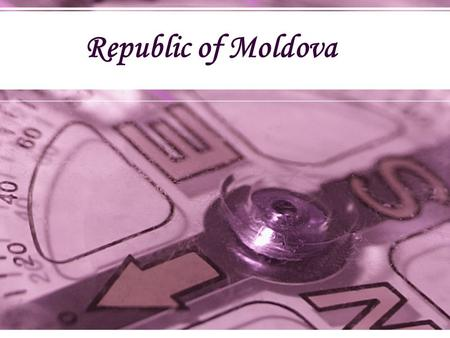Republic of Moldova. National Documents promoting Gender Equality: Law regarding the insurance of equal chances between men and women which entered into.