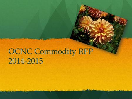 OCNC Commodity RFP 2014-2015. CRFP 2014-2015 Pricing for Pricing for Fee for Service Fee for Service Net Off Invoice Net Off Invoice Cash Rebate Cash.
