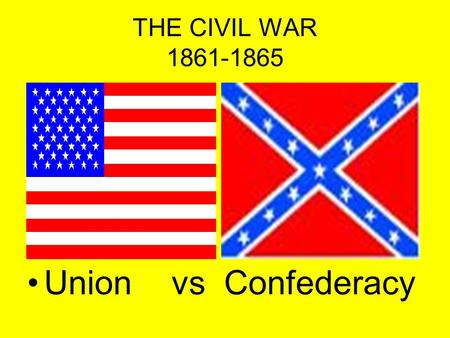 THE CIVIL WAR 1861-1865 Union vs Confederacy. Union Leaders.