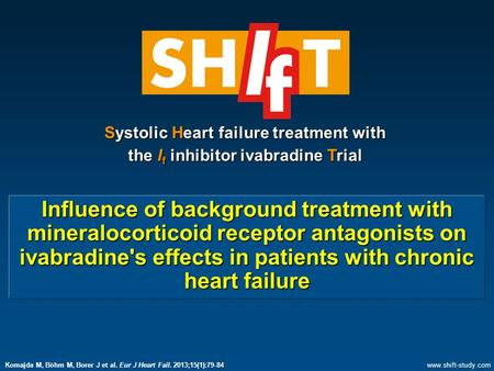 Influence of background treatment with mineralocorticoid receptor antagonists on ivabradine's effects in patients with chronic heart failure Systolic Heart.