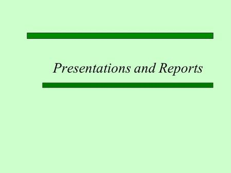 Presentations and Reports. Third Week (2/2/12)  Meet at the Albertsons Library in room LIB 203  Beth Brin will demonstrate the use of several databases.