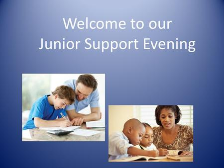 Welcome to our Junior Support Evening. Introduction Teachers in KS 2: Year 3 – Mrs. Waterman Year 4 – Mrs. Nott Yr 3/4 group teacher – Mrs. Ashton Year.