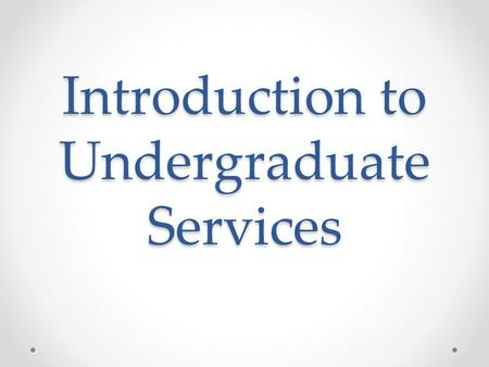 Introduction to Undergraduate Services. Your Arrival Pack Welcome Week Timetable; Teaching Timetables – lectures and Academic Advisor seminars; Seminars.