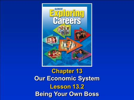 Chapter 13 Our Economic System Chapter 13 Our Economic System Lesson 13.2 Being Your Own Boss Lesson 13.2 Being Your Own Boss.
