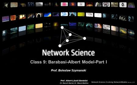 Class 9: Barabasi-Albert Model-Part I