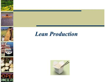 Lean Production.