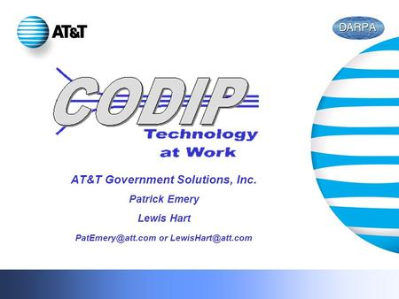 AT&T Government Solutions, Inc. Patrick Emery Lewis Hart or