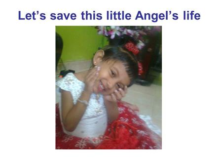 Let's save this little Angel's life. Financial support request letter from Nimshi's Ragama Teaching hospital…..