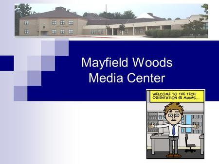 Mayfield Woods Media Center. Where are the Computers? Computer Lab  30 Computers iBook Mobile Labs  30 Laptops Math Mobile Lab  25 Laptops Science.