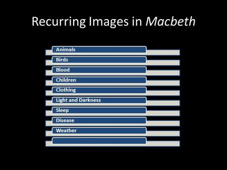 Recurring Images in Macbeth