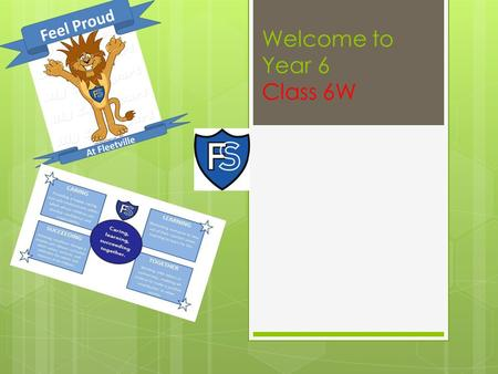 Welcome to Year 6 Class 6W. Welcome  Miss Wynne  Mrs Volner  Jaguars.