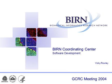 GCRC Meeting 2004 BIRN Coordinating Center Software Development Vicky Rowley.