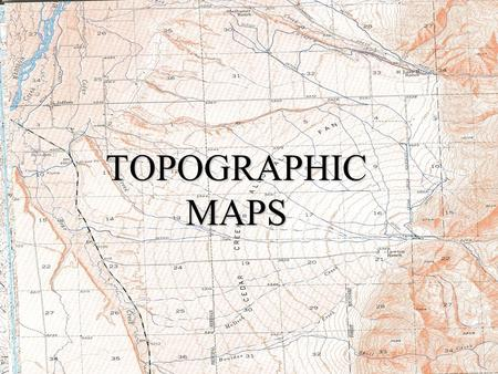 Topographic Maps TOPOGRAPHIC MAPS. Topographic map is a model, which attempts to show a 3-D world in a 2-D format.