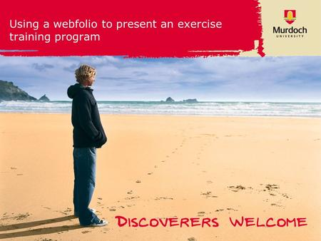 1 Using a webfolio to present an exercise training program.