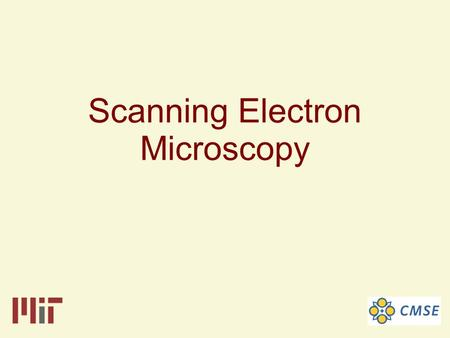 Scanning Electron Microscopy. The Scanning Electron Microscope is an instrument that investigates the surfaces of solid samples.