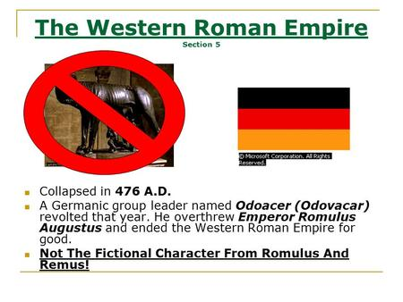 The Western Roman Empire Section 5
