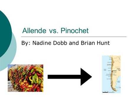 Allende vs. Pinochet By: Nadine Dobb and Brian Hunt.