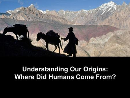 Understanding Our Origins: Where Did Humans Come From?