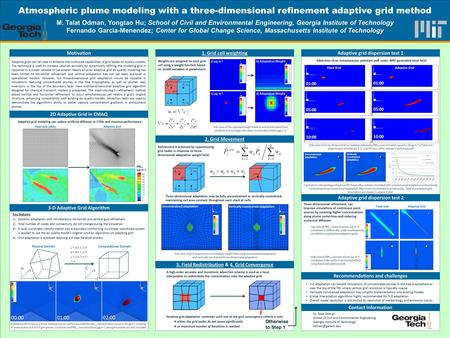 TEMPLATE DESIGN © 2008 www.PosterPresentations.com A high-order accurate and monotonic advection scheme is used as a local interpolator to redistribute.
