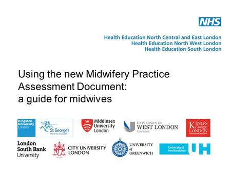 Using the new Midwifery Practice Assessment Document: a guide for midwives.