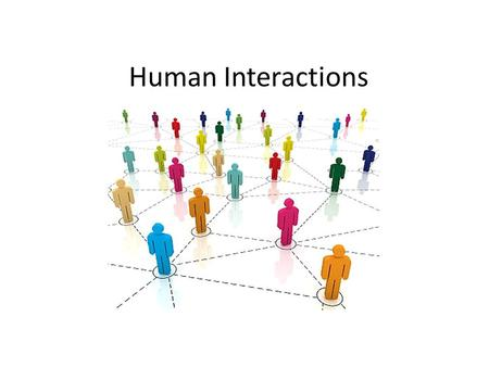 Human Interactions What is an Ethnic Group? A group of people who share language, customs and a common heritage.