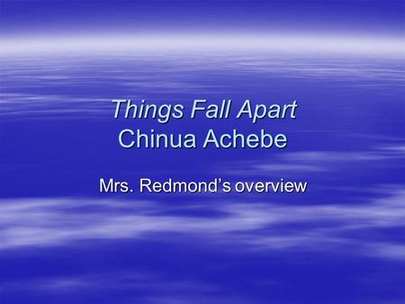 psychoanalysis chinua achebe Arrow of god is a 1964 novel by chinua achebe, his third it followed his book no  longer at ease these two works, along with the first book, things fall apart,.