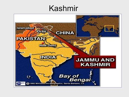 Kashmir. Jammu and Kashmir Pakistan gained independence from India in 1947 - the States of British India were asked to decide to go with India or Pakistan.