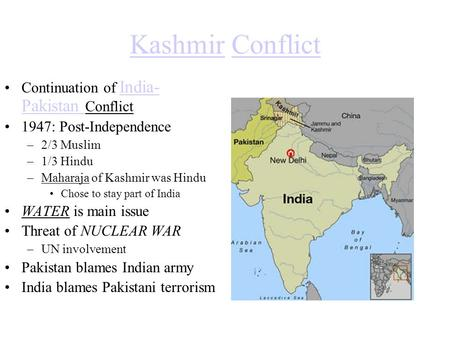 Kashmir Conflict Continuation of India-Pakistan Conflict